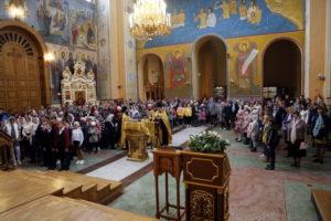 Общий молебен на начало учебного года в воскресной школе и епархиальных богословских курсов при Вознесенском кафедральном соборе Кузнецка